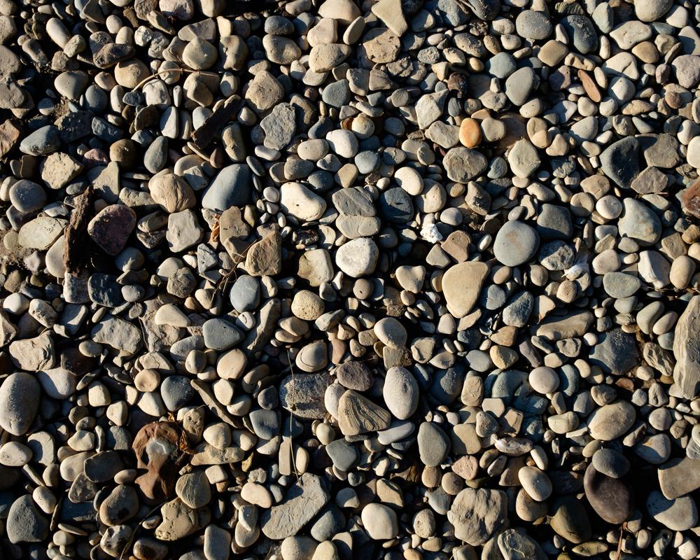 Rocks along the Lake Michigan shore