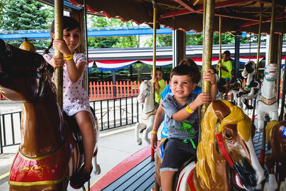Carousel ride at Little Amerricka