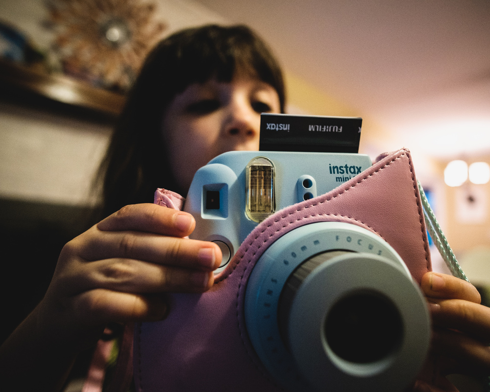 A budding photographer.