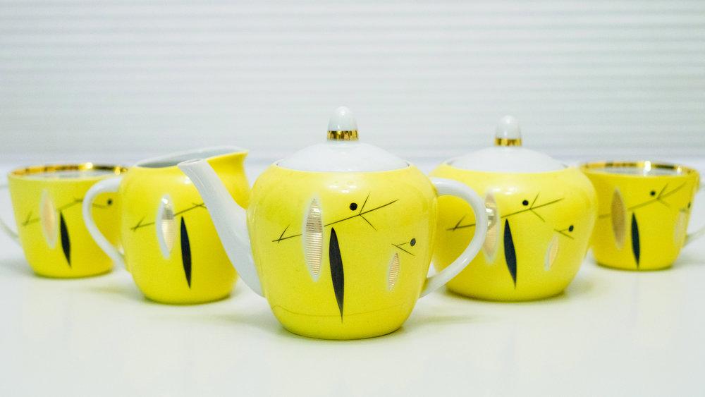 Soviet-era tea set