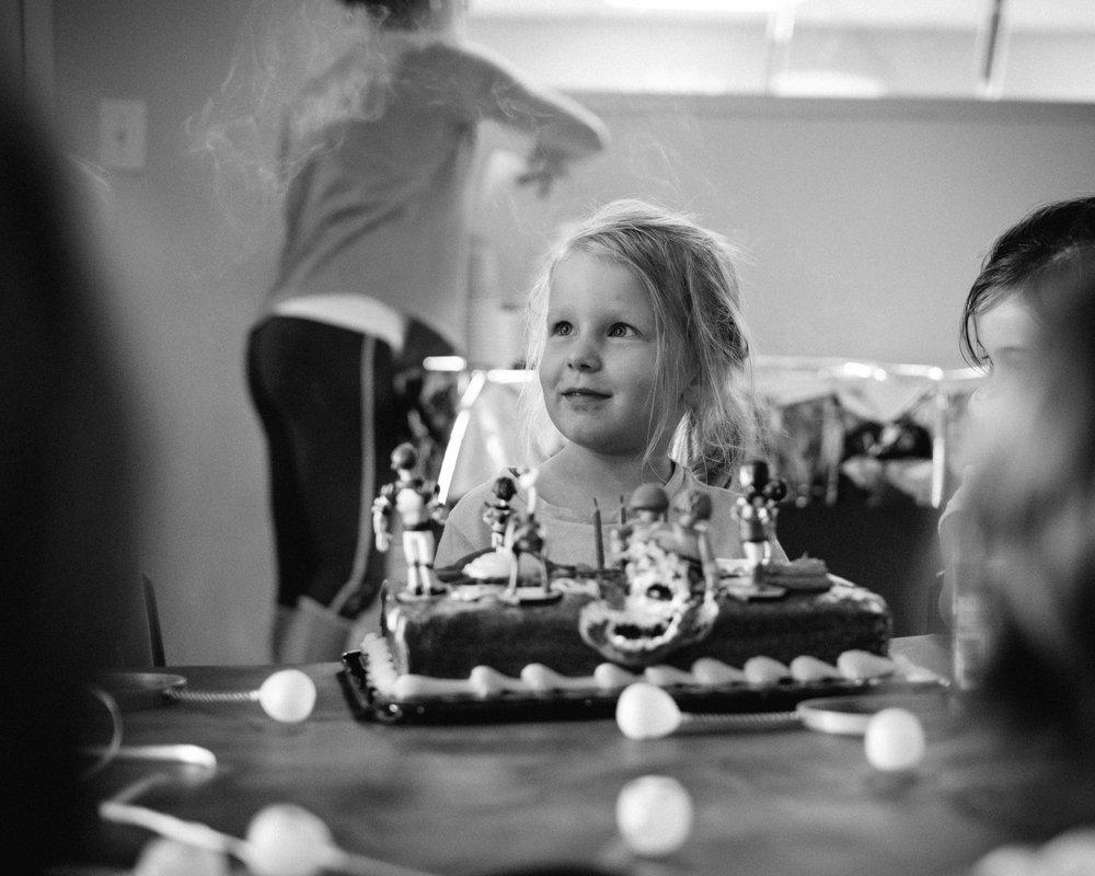 The birthday girl.