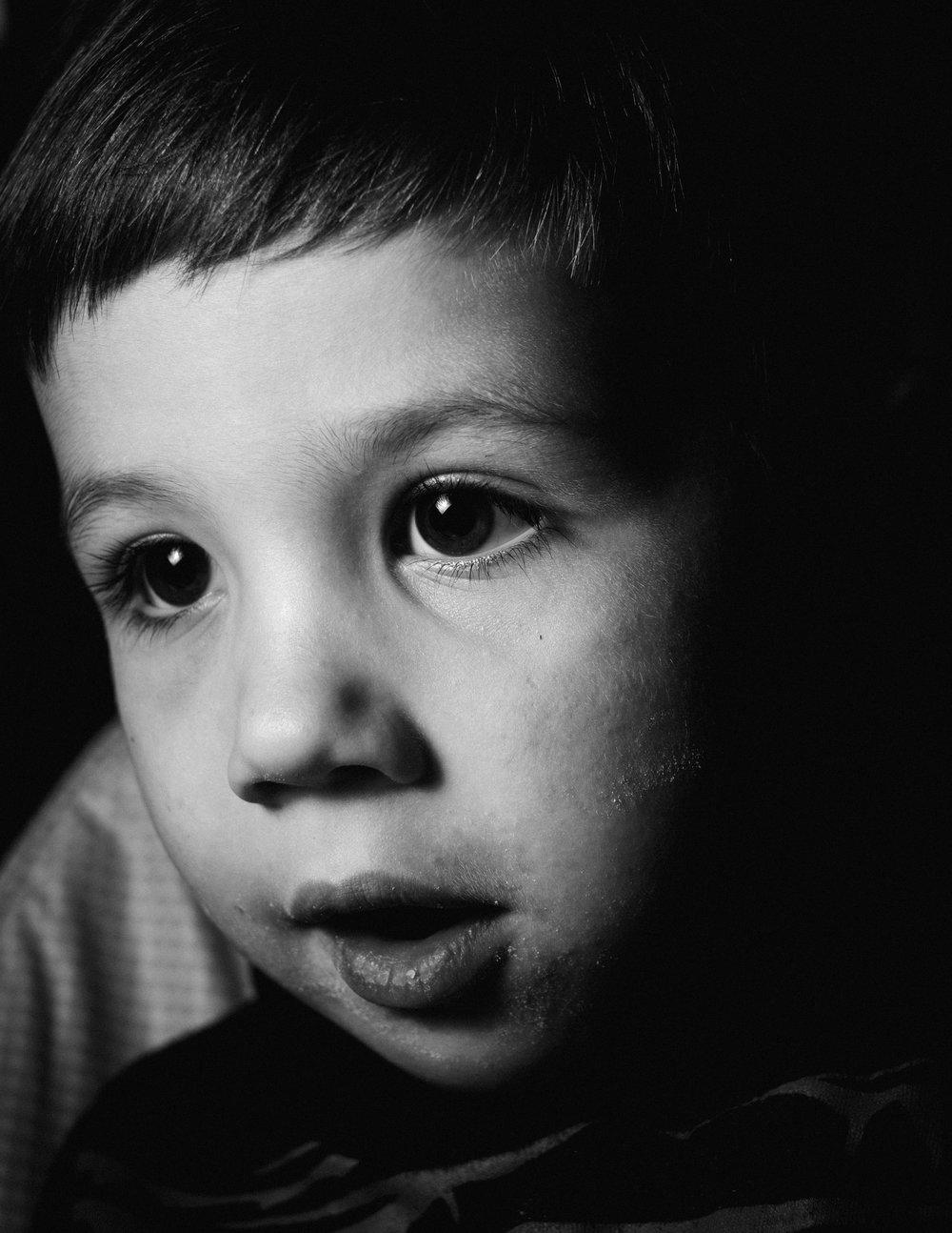 My son, age 4.