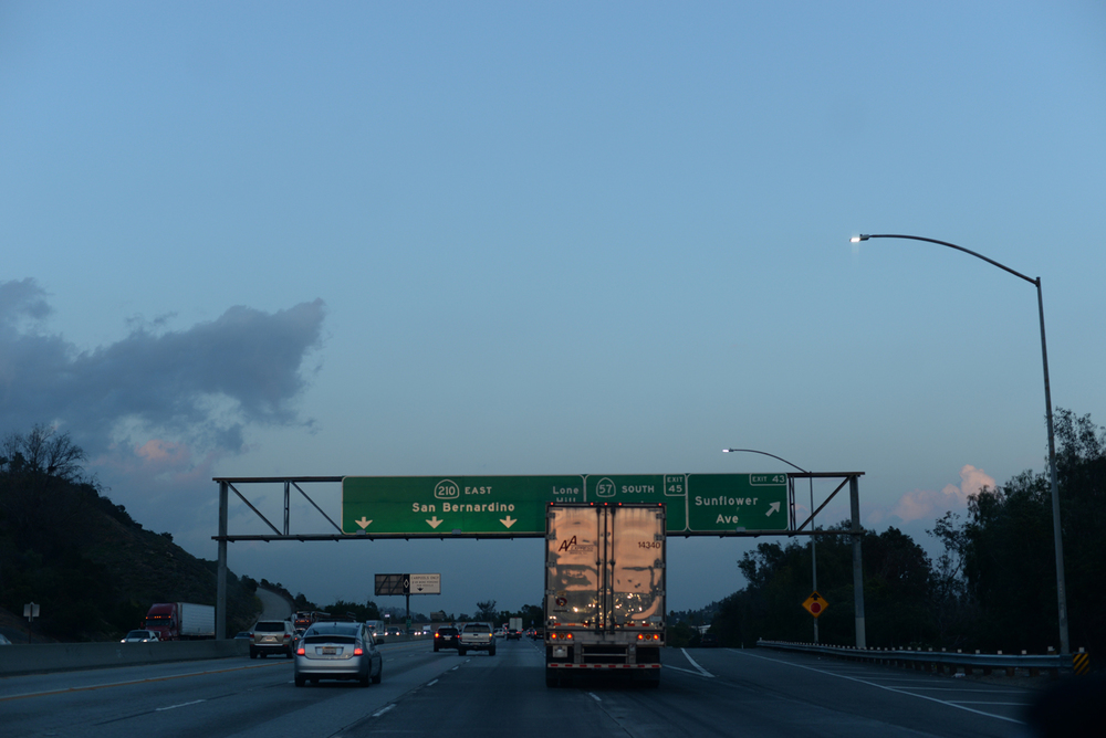 Traffic. Welcome to L.A. and surrounding area.