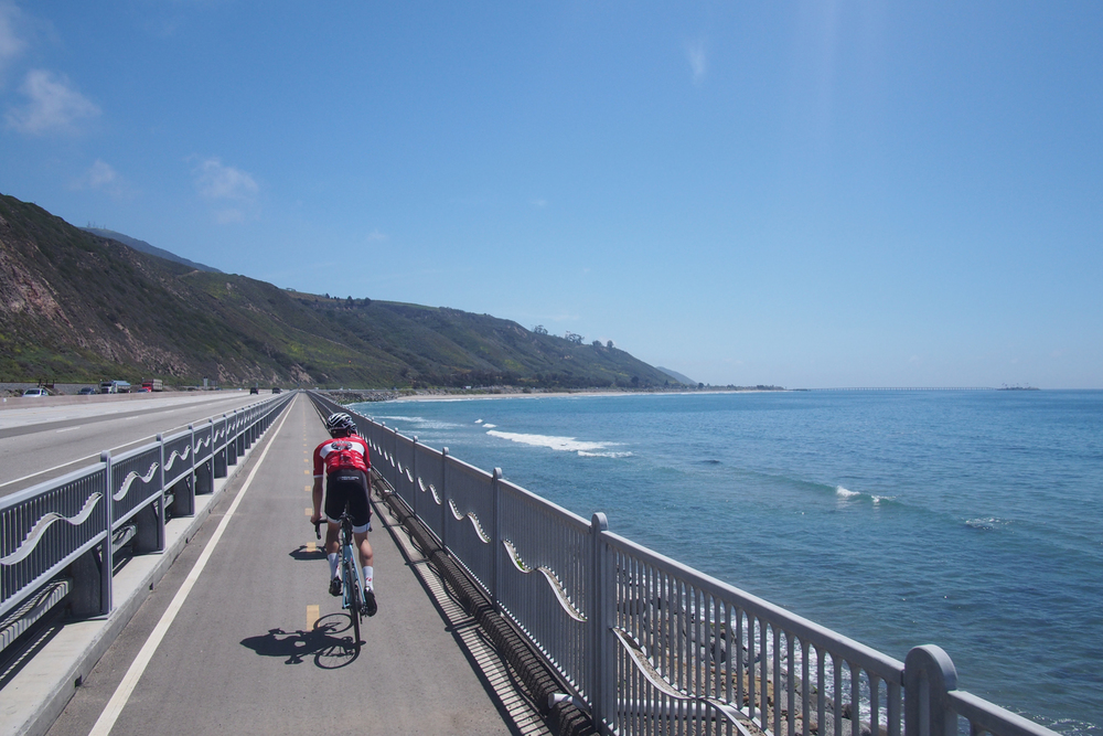 This bike path was alright too. No big deal, ocean, mountains. Whatever.