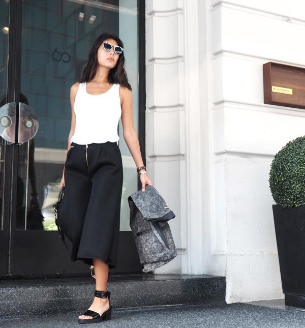 ana buendia de top 5 fashion usando looks de diseñadores latinoamericanos