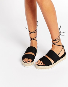 SANDALIAS DE AMARRAR I ASOS COLLECTION