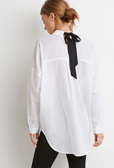 CAMISA CON MOÑO I FOREVER 21