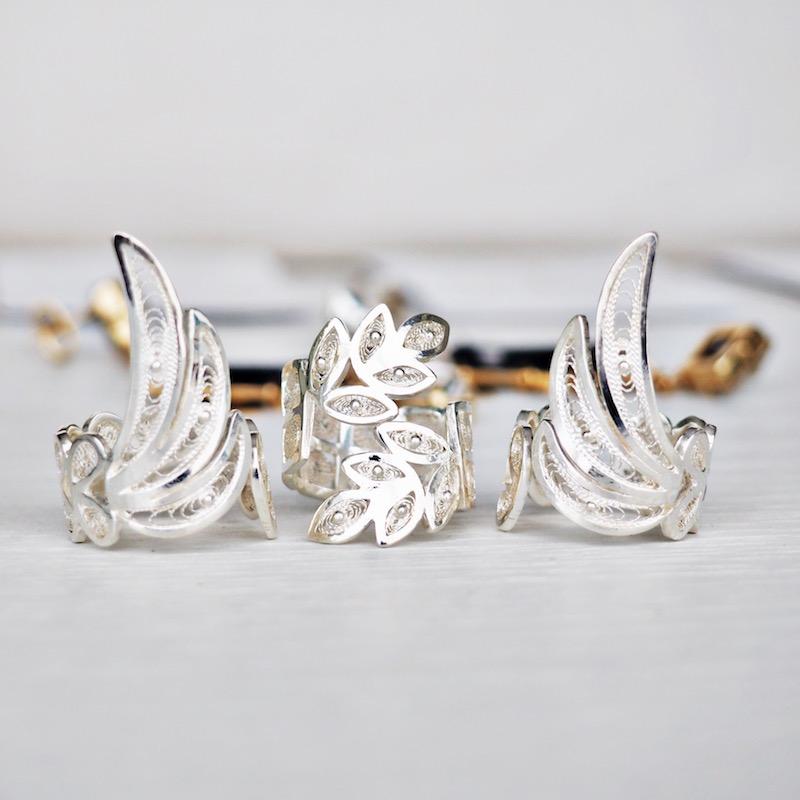 anillos de plata tres almas