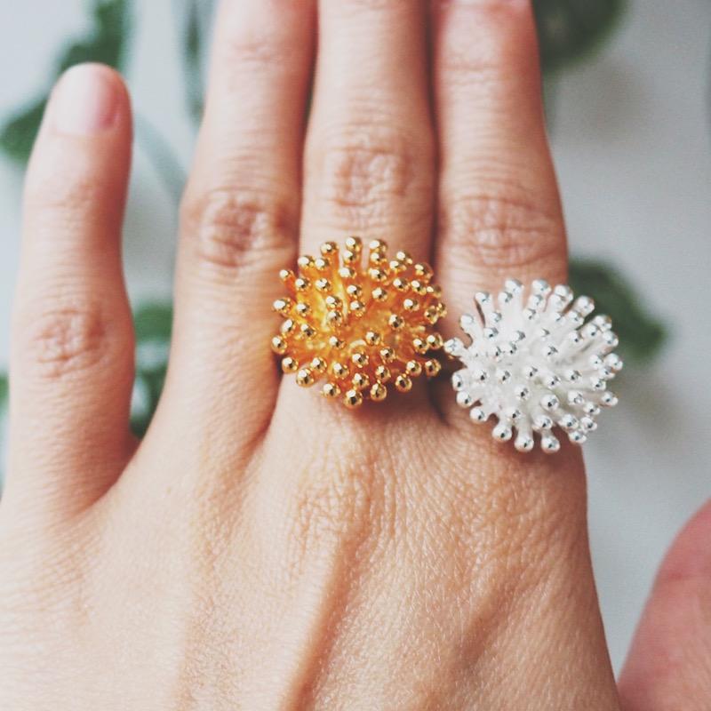 anillos de plata y oro daniela salcedo