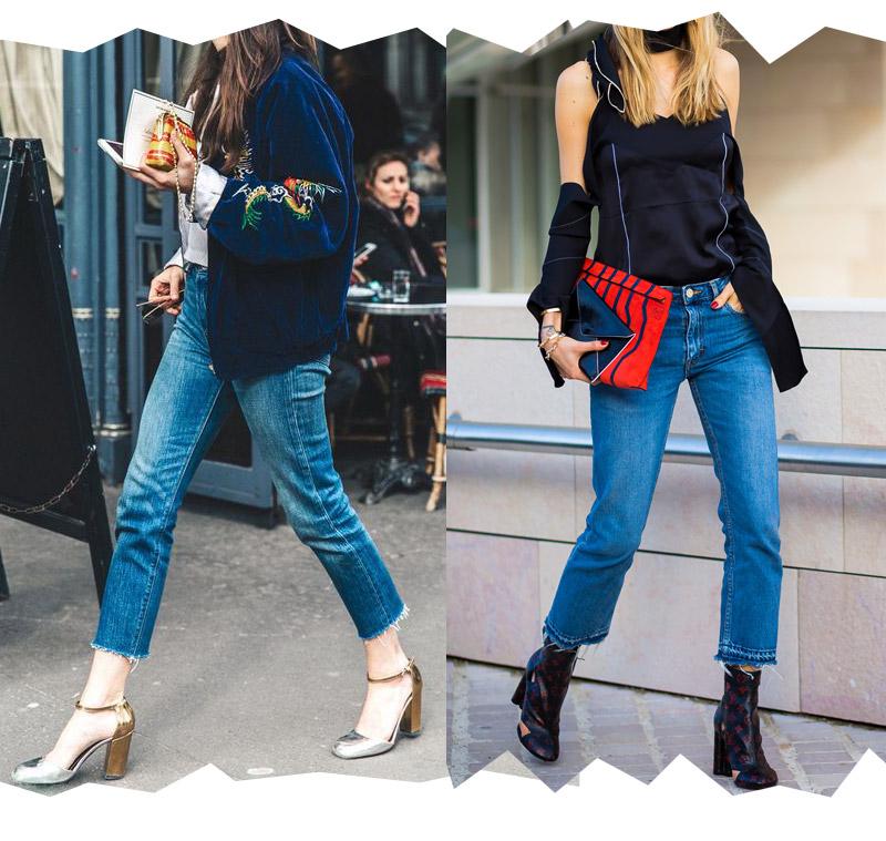 blog looks con jeans y tacones gruesos. Tacones plateados tendencias