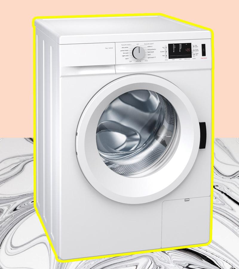 Top-5-fashion-ariel-tips-lavar-ropa-delicada-mujer-moderna. Collage por Ana Buendia Top 5 Fashion. Diseño grafico