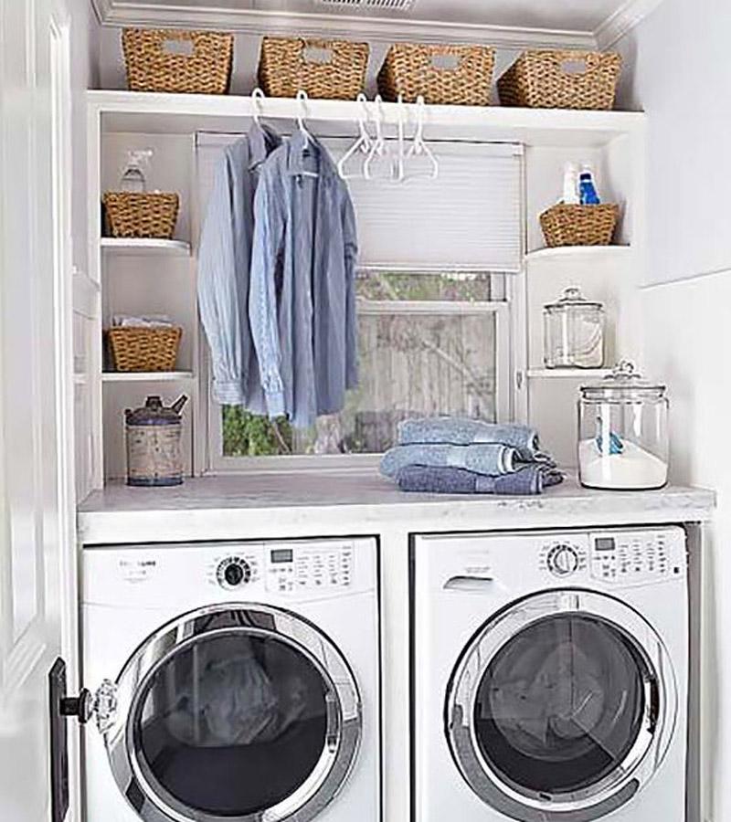 Top-5-fashion-ariel-tips-lavar-ropa-delicada-mujer-moderna. Collage por Ana Buendia Top 5 Fashion. Diseño grafico. Ideas Cuarto de lavandería.