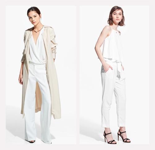 pantalones blancos tendencias de la moda mango colombia