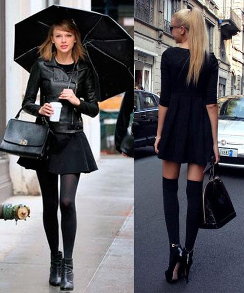 No te quedes por fuera de las tendencias de la moda solo porque no sabes que ponerte, usa negro y reinarás