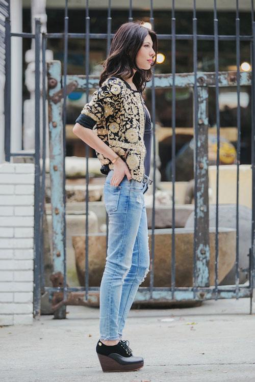blog looks en negro y dorado para esta edicion de fashion top5