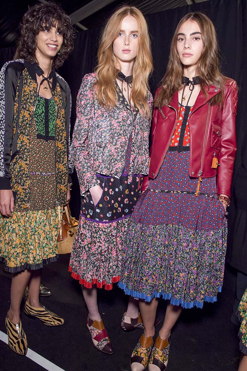 vestidos de flores coach ultima coleccion 2016 caretras de moda