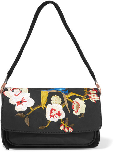 CARTERA FLORES BORDADAS