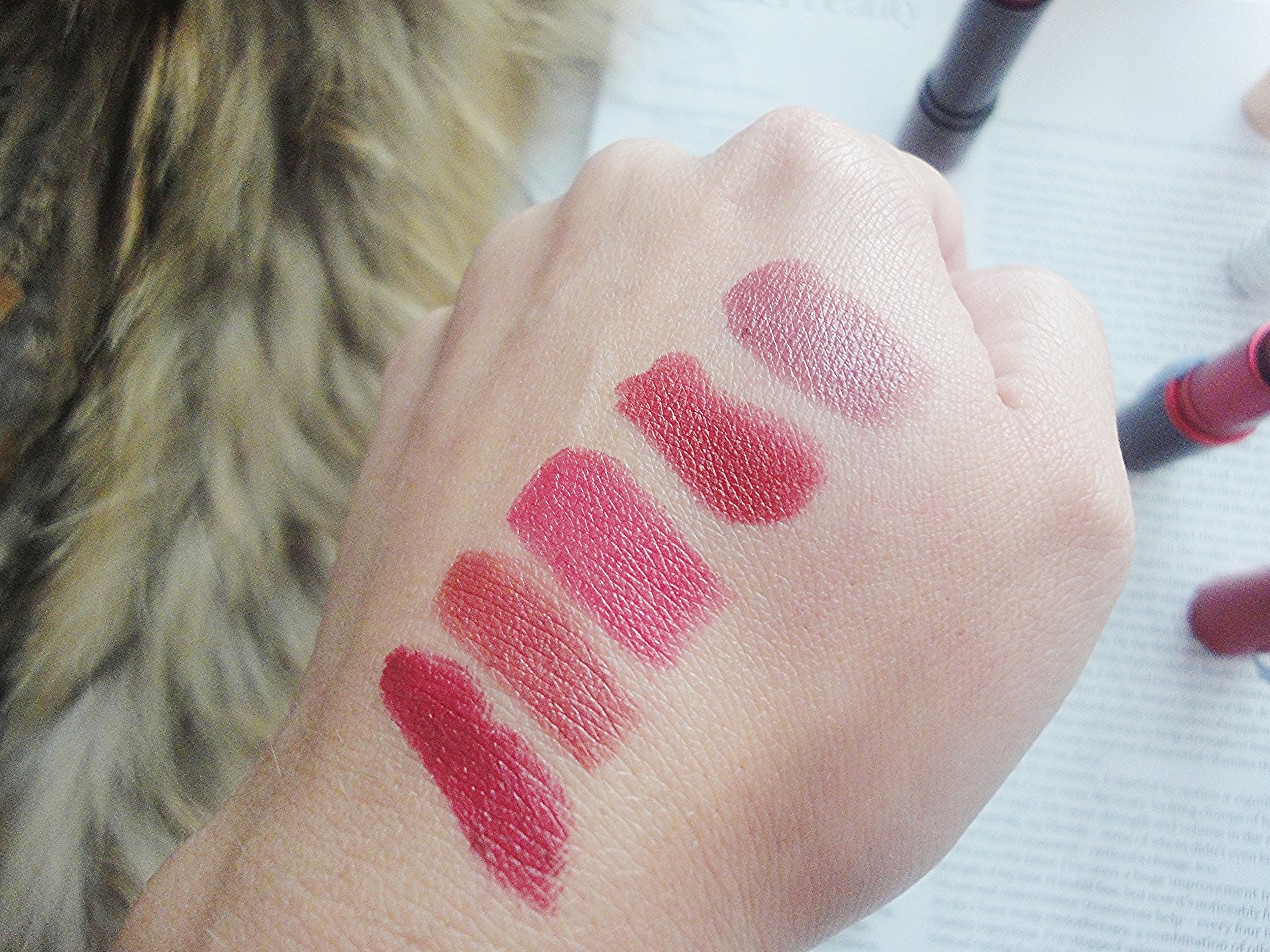 autumn lip swatch