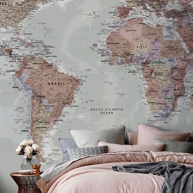 More interior goals. Loving the blush and grey tones - also LOVE this map wallpaper, found it on Pinterest anyone know where I can find it?  #blushpink #bedroomgoals #grey #copper #marble #thismarblelife #pintrest #interiors #discoverunder5k #pink #interiordesignersofinsta  #interiorgoals #inspiration #bloggerstyle #renovations #renovations #lovestylelife #mapwallpaper #wallpaper #discoverunder10k #bloggerstylelife  #beauxdiaries
