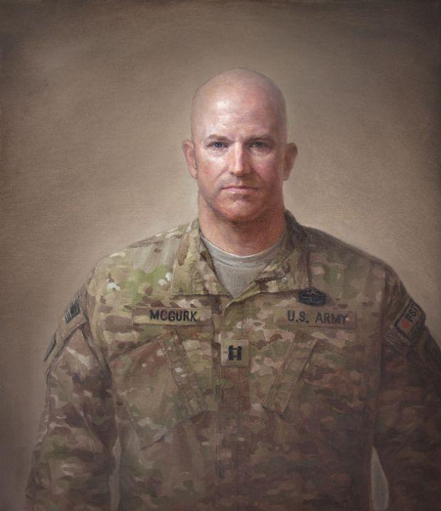 Portrait of U.S. Army Captain Kevin McGurk by Matt Mitchell via NEA.