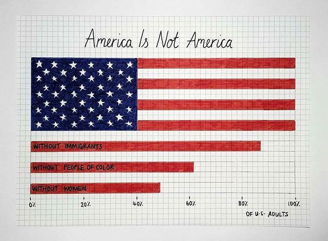 #America 🇺🇸 Artwork by @mona_chalabi via @womensmarch #SignsOfResistance