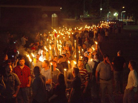 Cheeky Tiki Boys - A photo moved nationally by Thomson Reuters shows white nationalists rallying on the University of Virginia campus in Charlottesville on the night of August 10, 2017.