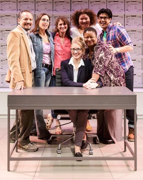 (from left) Jesse J. Perez, DeLanna Studi, Deborah Zoe Laufer, Tina Benko, Liesl Tommy, Myra Lucretia Taylor and Pun Bandhu