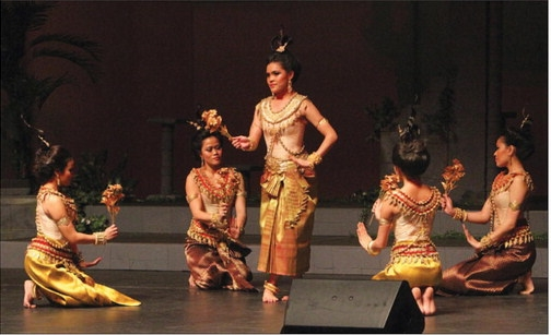 "The Angkor Dance Troupe performs ""Apsara Dancing Stones"" (Sun Photos/Julia Malakie)"