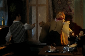 Cynthia van Buhler's recreation of the murder of her grandfather in Dollhouse Speakeasy