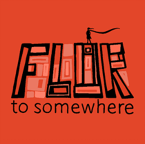 Poster for Peppercorn Theatre production of Flor to Somewhere.