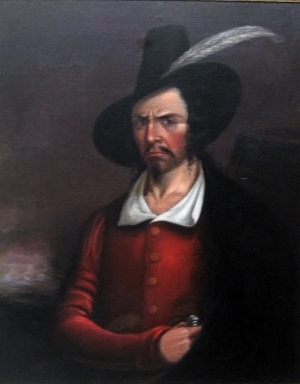 Anonymous portrait of Jean Lafitte from early 19th century