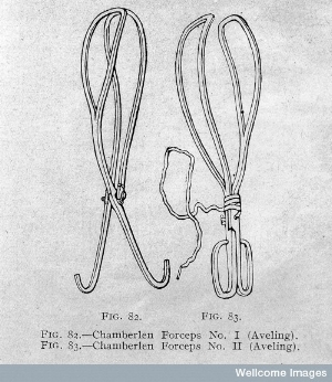 The Chamberlen forceps