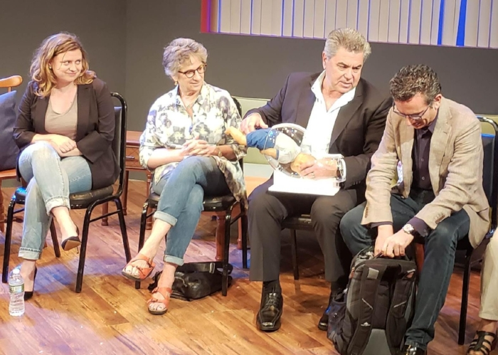 From left: Chiara Atik, Claudia Weill, Jorge Odón, Mario Merialdi