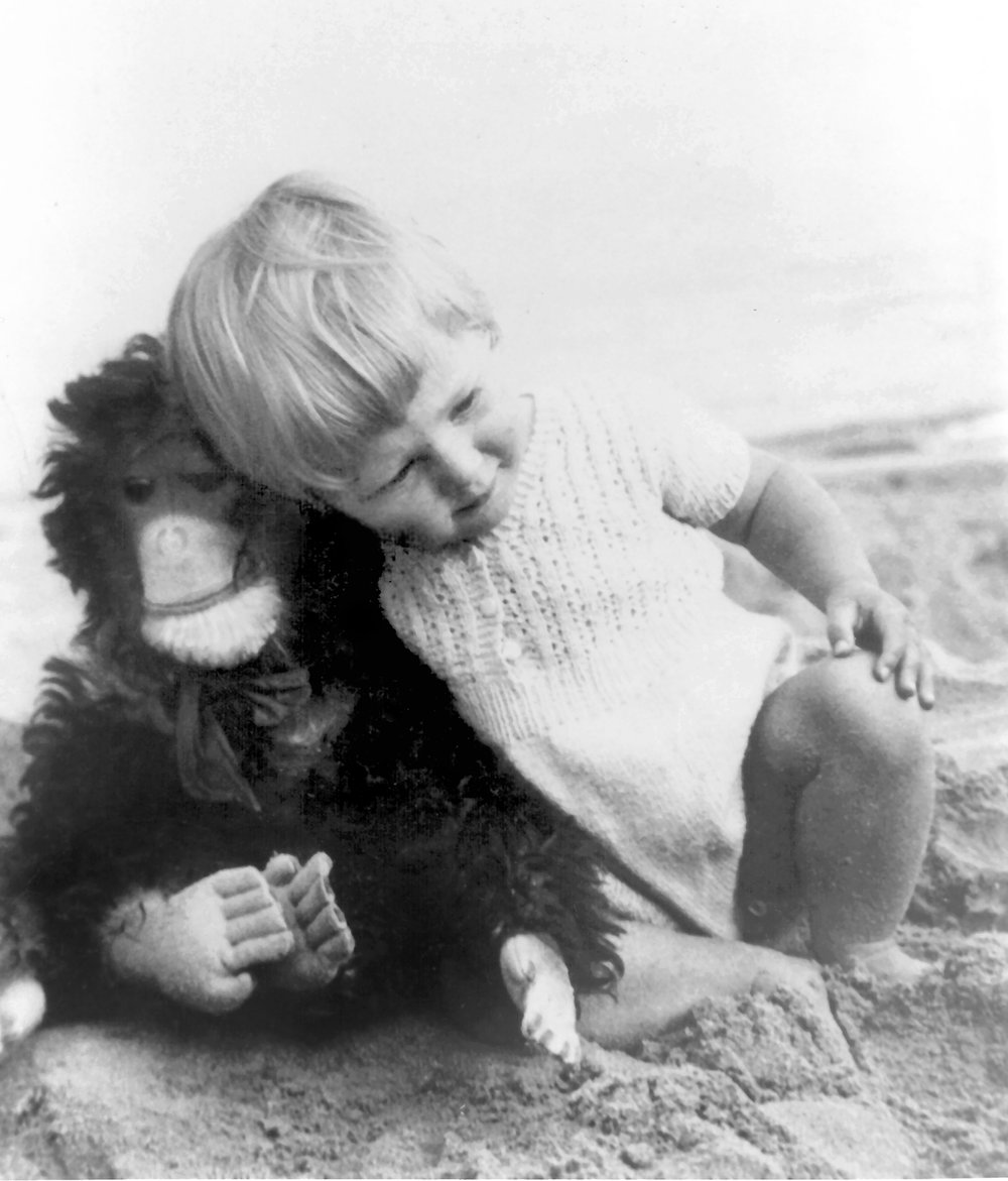 Young Jane Goodall with Jubilee