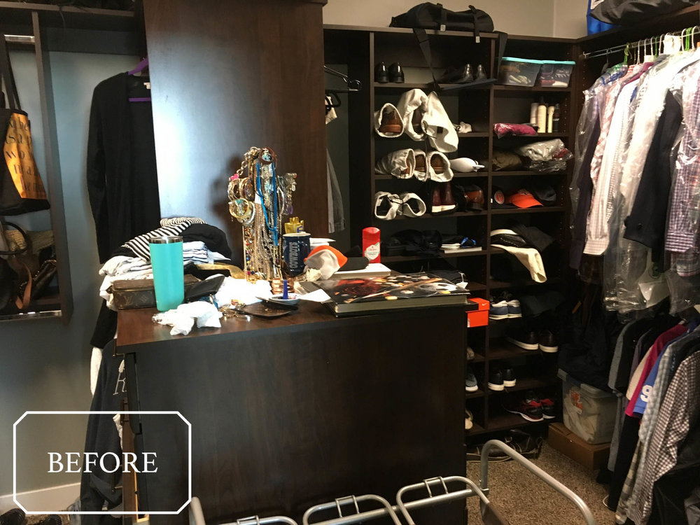 This Denver, CO Closet Appears Spacious, But Has Some Storage Challenges.  We Were Able To Reorganize It So That Clothes Are More Accessible, Jewelry  Isnu0027t ...