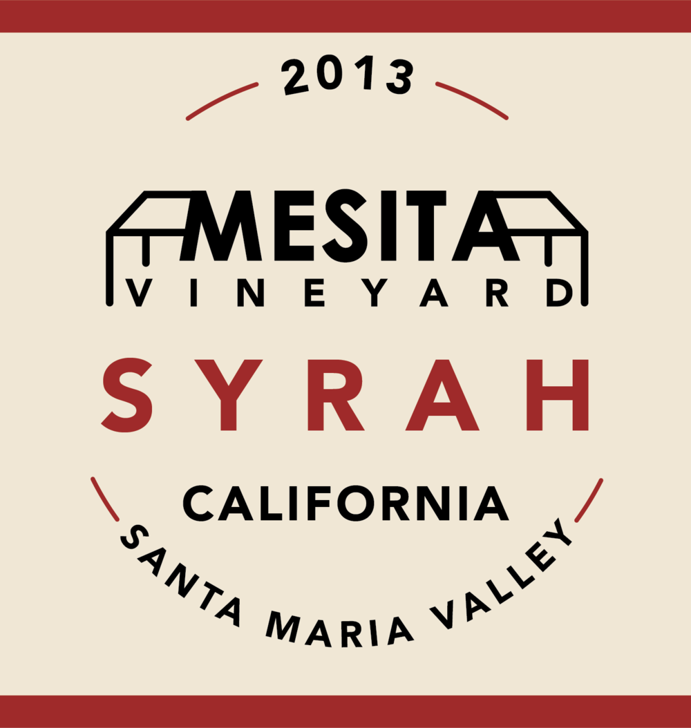 Mesita Vineyard Syrah Wine Label