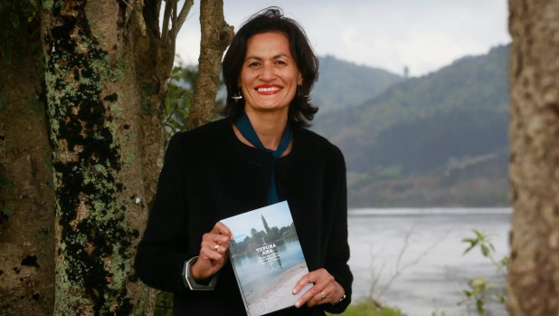 Dr Marama Muru-Lanning with her latest book. Photo:  Mark Taylor/Fairfax NZ .