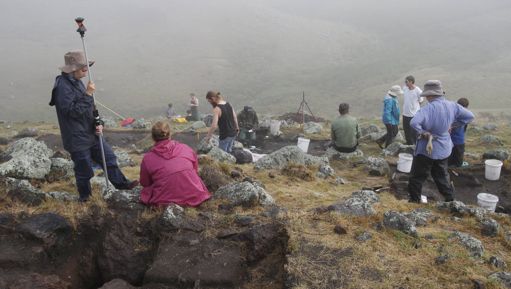 Fieldwork on Ahuahu/Great Mercury Island, done in collaboration with Ngati Hei.
