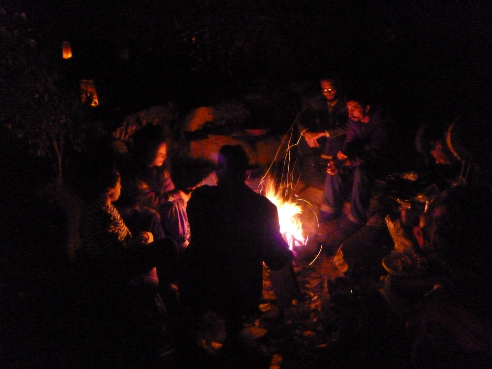 Telling Stories and weaving dreams by the fireside.