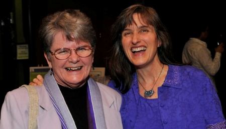 Sister Barbara Raymond (left) and Bridget Cooke, Co-Founders of Adelante Mujeres