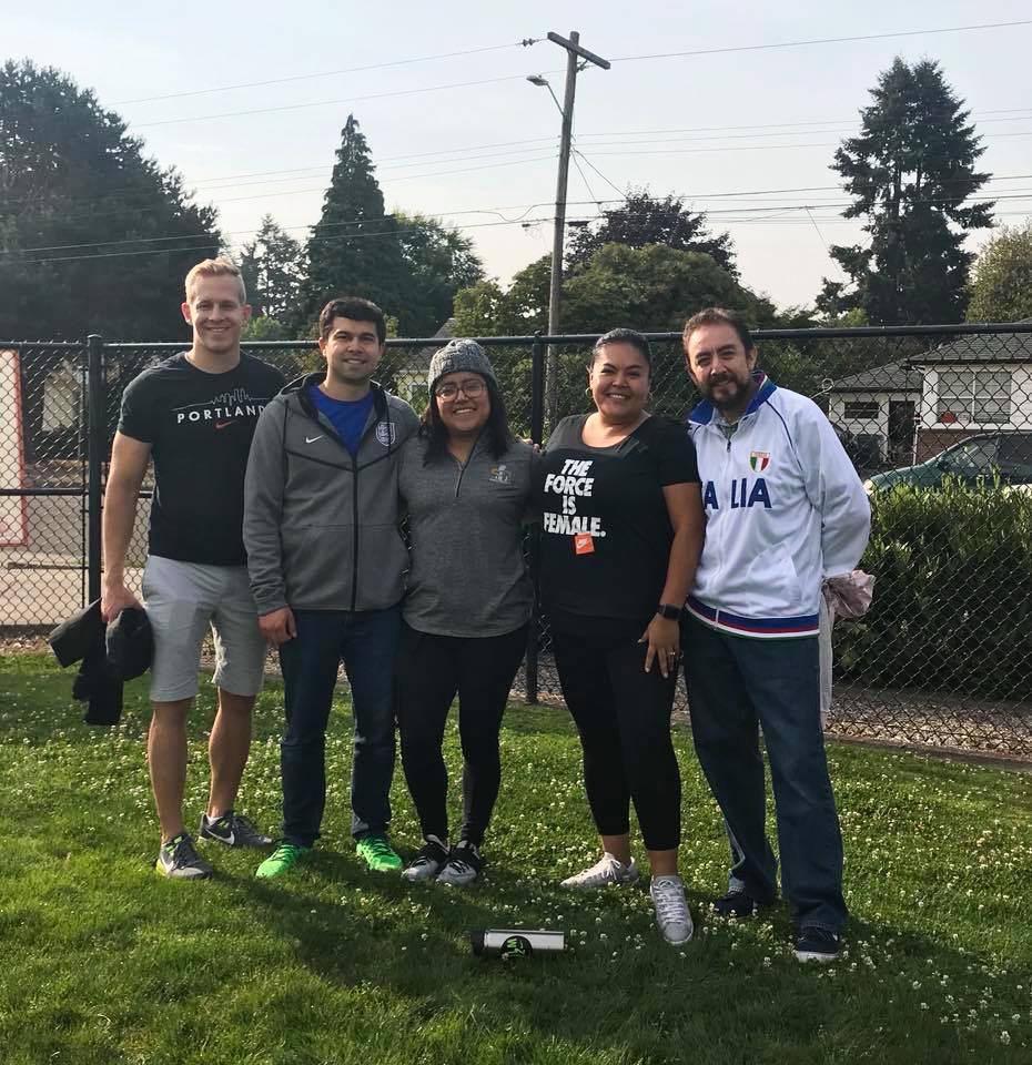 Nike volunteers on tournament day.