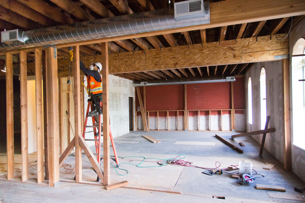 Until now, the third floor of the building has been unused. We are now transforming it into a space for conference rooms, office space, and the Microenterprise office including the Forest Grove Farmer's Market office.