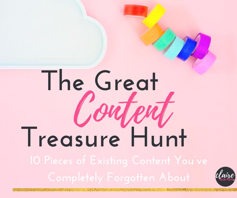 Claire Barton Content Treasure Hunt blog