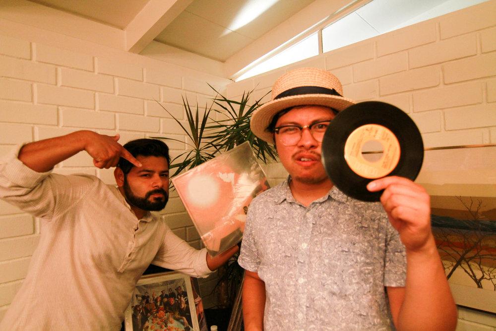 DJ Chris + DJ Quatre Cinq aka Emilio of Aye Que Vintage.