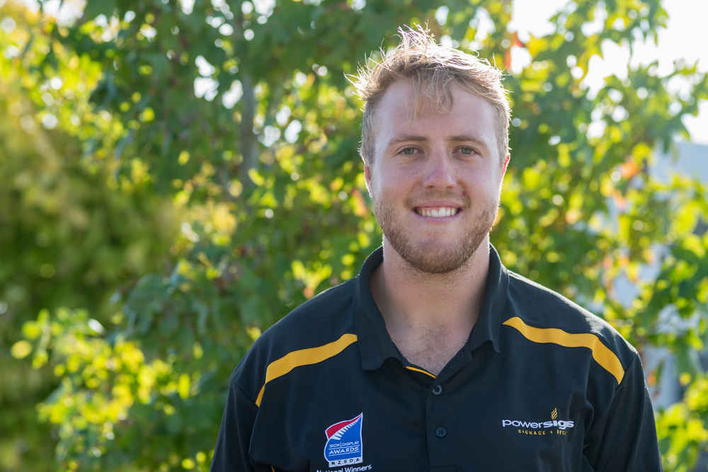 Riley Burrows - Administration/Production/Marketing Warren and Debbie's son Riley has recently joined the family business in an exciting new position with various roles, from taking care of all aspects of administration to helping with the production, application and installation of signage where needed and also managing Power Signs social media and advertising presence. Outside of work Riley enjoys his sport, predominantly rugby and snow skiing, he also enjoys spending time with friends and family.