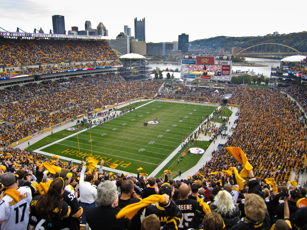 HEINZ FIELD BEFORE A GAME.