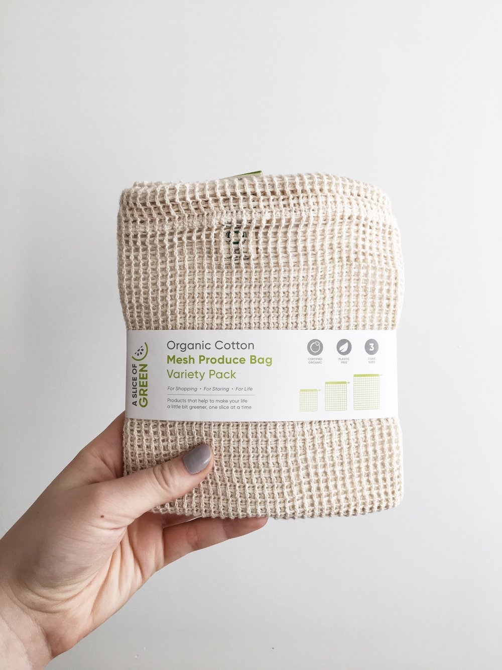 Mesh Produce Bags £7 from Zero Waste Market.