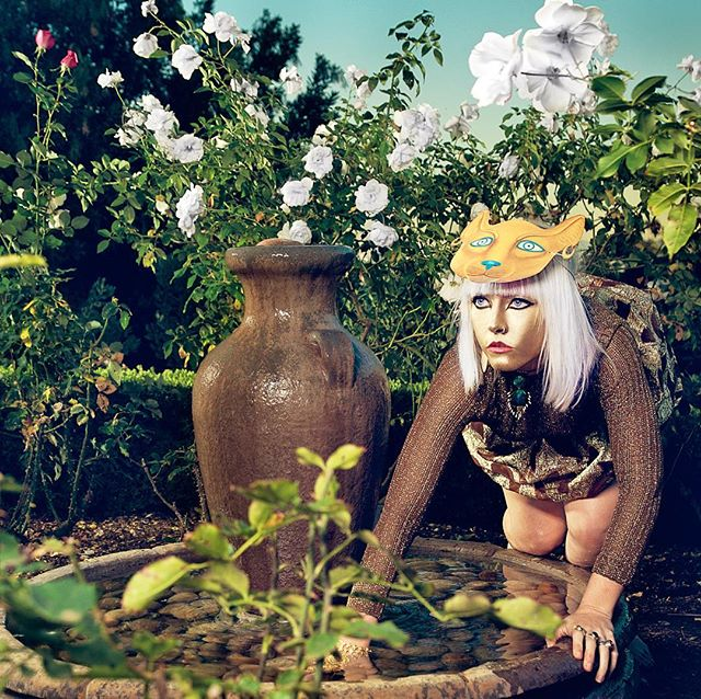 Lurking In Our Gardens #egyptiangoddess #editorial #feline #fashionphotography #conceptualphotography