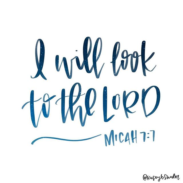 """I asked what verses y'all wanted me to letter next a while ago on Insta stories, so @sabrena_deal , this one's for you! I loved Micah 7:7 so much I'm splitting it into 3 parts 😊 . . """"Where we stare we will steer."""" @lysaterkeurst"""