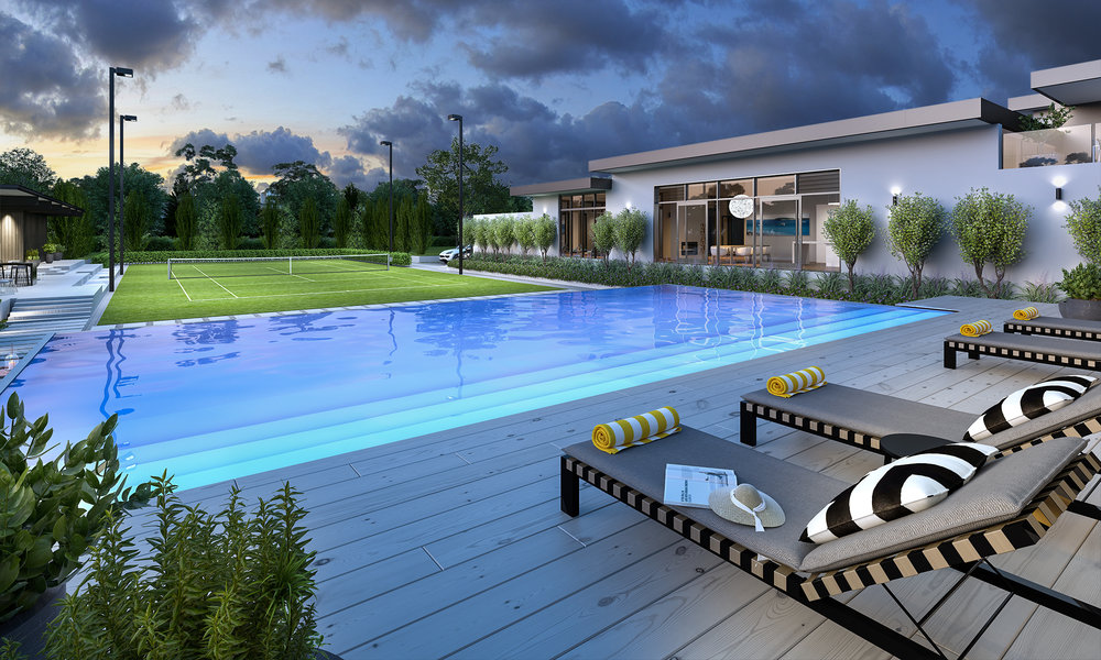 Maddison Estate - Pool Dusk MR.jpg